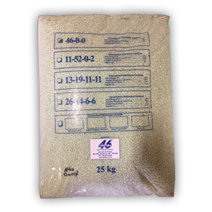 bag of 46-0-0 Mix Lawn Fertilizer